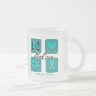 Believe Inspirations Tourette Syndrome 10 Oz Frosted Glass Coffee Mug