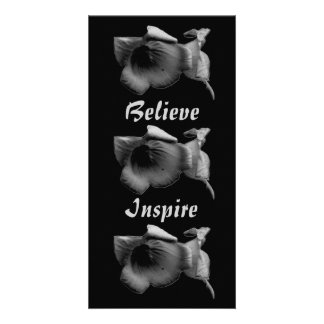Believe Inspire Charcoal Wildflower Card