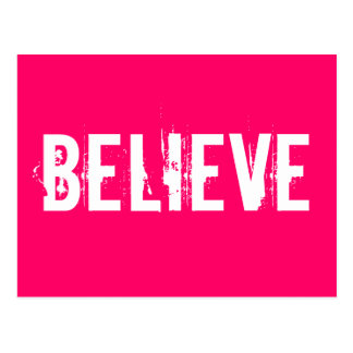 Believe - Inspire, Motivate, Pink Postcards