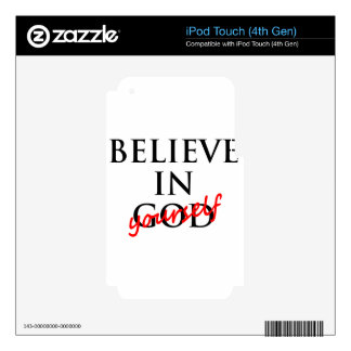 believe iPod touch 4G decal