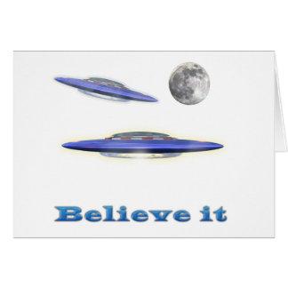 believe it UFO gear Card
