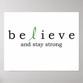 Believe Kidney Cancer Poster