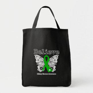 Believe Kidney Disease Awareness Tote Bags