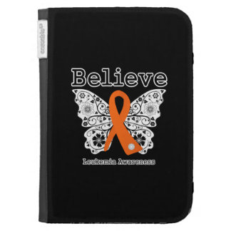 Believe - Leukemia Butterfly Kindle Folio Case