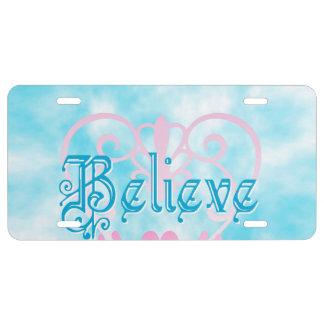 Believe License Plate
