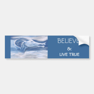 Believe & Live True Car Bumper Sticker