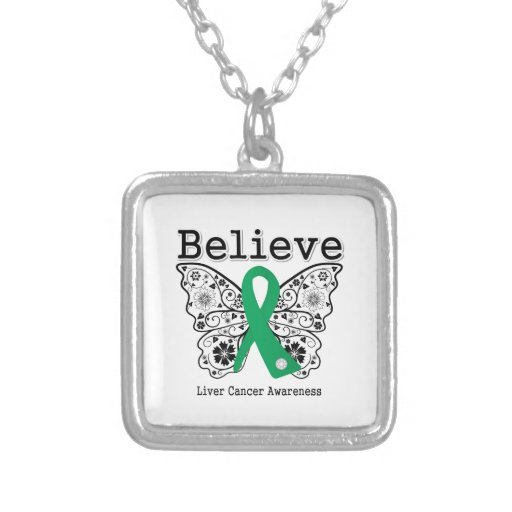 Believe - Liver Cancer Butterfly Necklace