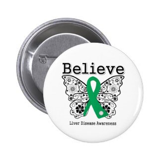 Believe Liver Disease Awareness 2 Inch Round Button