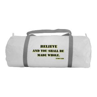 Believe, Luke 8:50 Duffle Bag