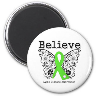 Believe Lyme Disease Awareness 2 Inch Round Magnet