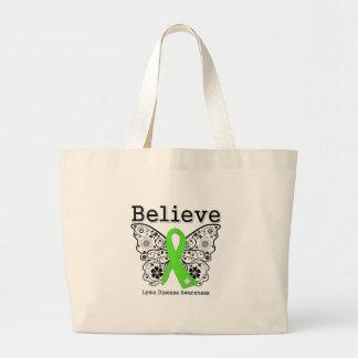 Believe Lyme Disease Awareness Large Tote Bag