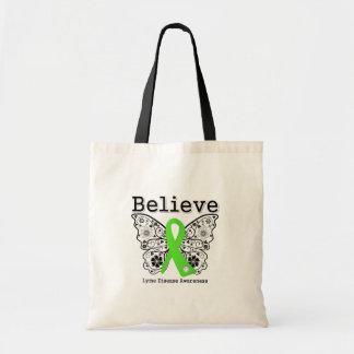 Believe Lyme Disease Awareness Tote Bag