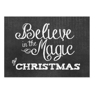believe magic of Christmas Chalkboard Business Card Templates