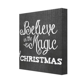 believe magic of Christmas Chalkboard Gallery Wrapped Canvas