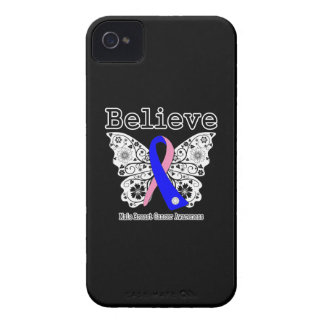 Believe - Male Breast Cancer Butterfly iPhone 4 Cover