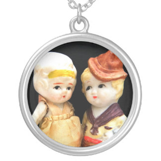 Believe Me When I Say I Only Have Eyes For You Round Pendant Necklace