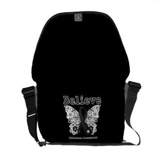 Believe - Melanoma  Butterfly Messenger Bags