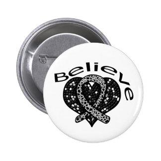 Believe Melanoma Pin