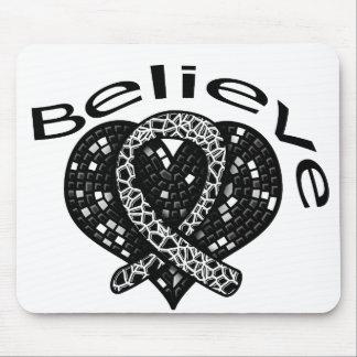 Believe Melanoma Mouse Pads