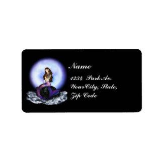 Believe Mermaid Black Purple Avery Labels 2