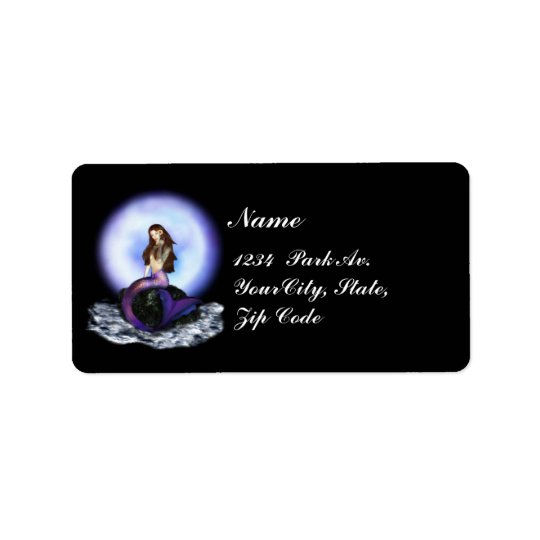believe mermaid black purple avery labels 2 zazzle com