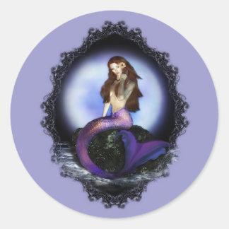 Believe Mermaid Round Sticker