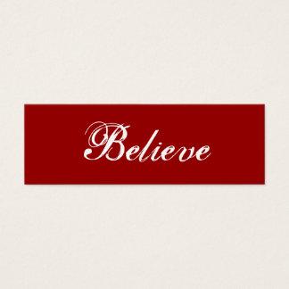 Believe Mini Business Card