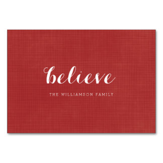 Believe - Modern Merry Christmas Red Card