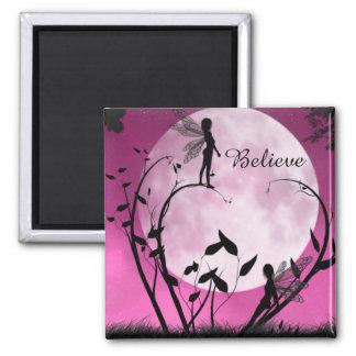 Believe moon fairies magnet