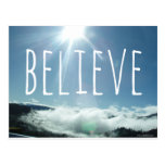 Believe Motivational Saying Post Card