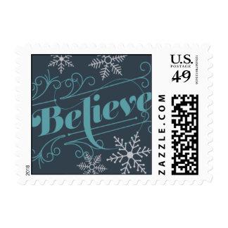 Believe - Navy Blue & Teal Postage