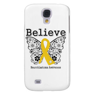 Believe - Neuroblastoma Cancer Butterfly Samsung Galaxy S4 Cover