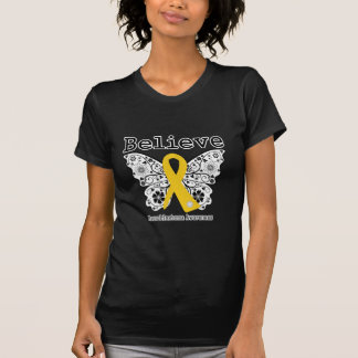Believe - Neuroblastoma Cancer Butterfly Tee Shirt