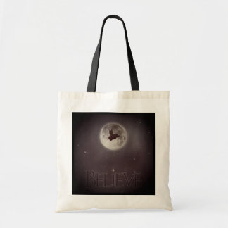 Believe-Nocturnal Flying Pig Tote Bag