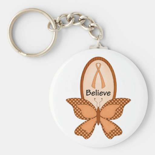 Believe- Orange Awareness Keychain