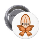 Believe- Orange Awareness Pinback Button