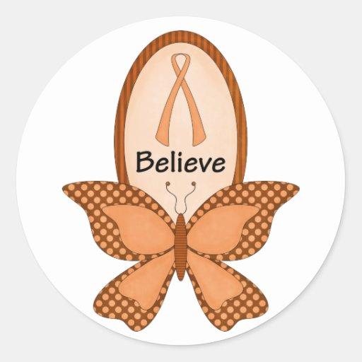 Believe- Orange Awareness Stickers
