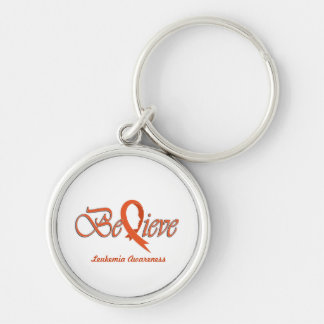 "Believe ""Orange - Gift Items"" Silver-Colored Round Keychain"