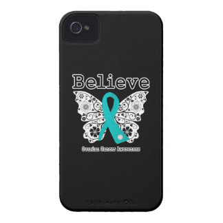Believe - Ovarian Cancer Butterfly iPhone 4 Cases