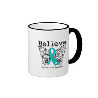 Believe - Ovarian Cancer Butterfly Mugs