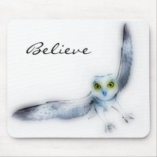 Believe owl mousepad