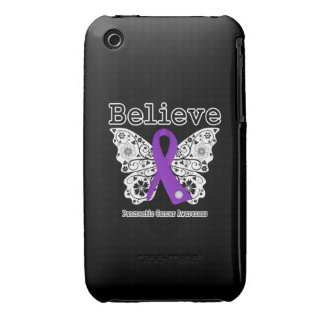 Believe - Pancreatic Cancer Butterfly iPhone 3 Covers