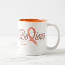 "Believe ""Peach Mug"" Two-Tone Coffee Mug"