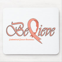 "Believe ""Peach Ribbon Accessories"" Mouse Pad"