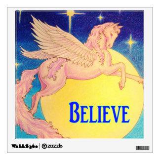 """""""Believe"""" Pegasus Wall Sticker"""