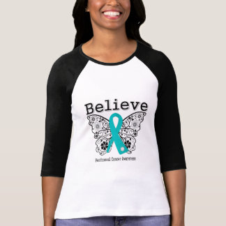 Believe - Peritoneal Cancer Butterfly Tshirt