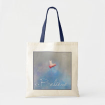 Believe-pigs will fly tote bag