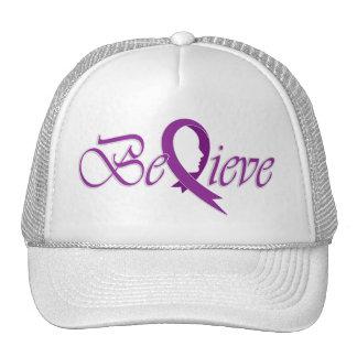 Believe (Plum-Trucker) Trucker Hat