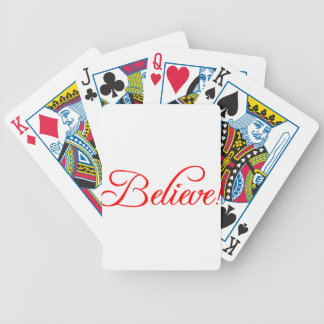 Believe!.png Bicycle Playing Cards
