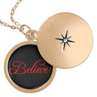 Believe!.png Locket Necklace